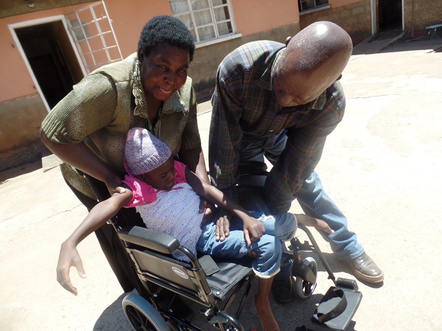 disabled girl cerebral palsy wheelchair Zambia Monze cared for by her grandmother UK charity low overheads volunteer run charity