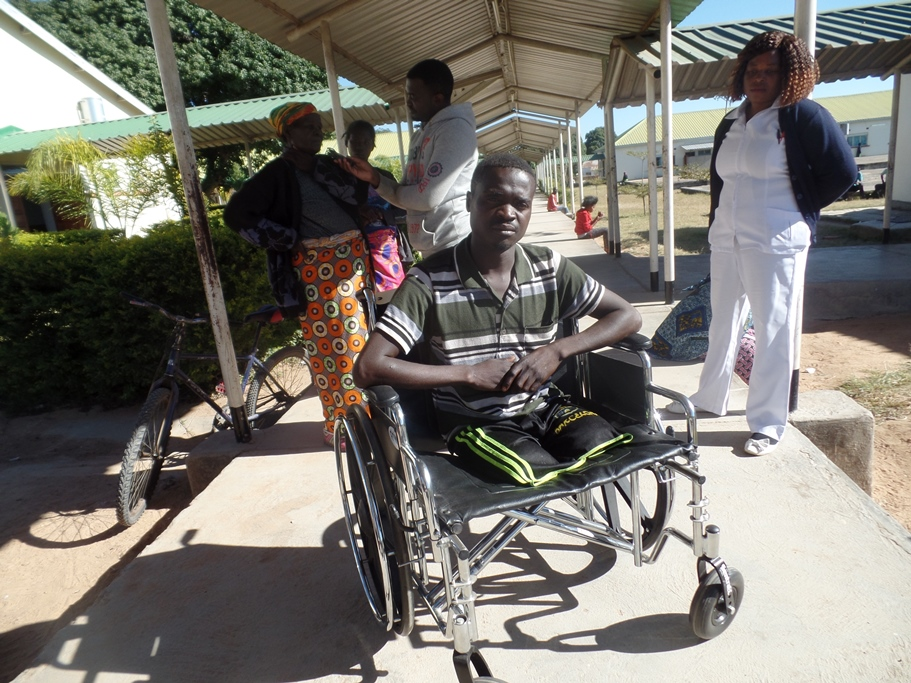 Zambian amputee enabled to move - no longer crawling; Health help International HHI Monze Choma
