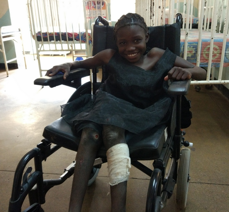 disabled girl Monze Mission Hospital MMH HHZ Health Help Zambia HHI Health Help International charity Wales Newport