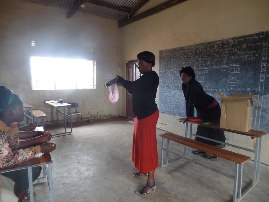 Girls' education, periods, menstruation, UK charity, Zambia, Monze