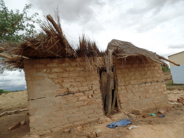 Village house, Ntambo, backward community, disabled woman, Zambia, UK charity