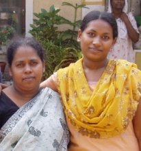 Shalini and her mother Valsala